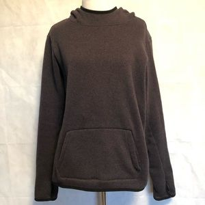 Grey Hooded Nike Pullover Sweatshirt Size Large